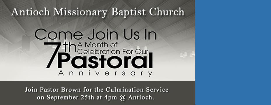 Antioch 7th Pastor Anniversary