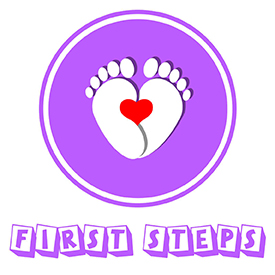 First Steps Logo V10 Purple Foot Heart_Thumbnail